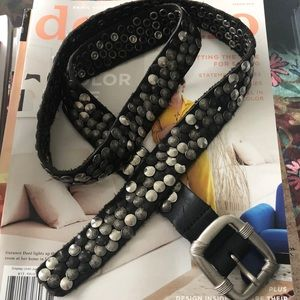 Accessories - Black silver studded belt